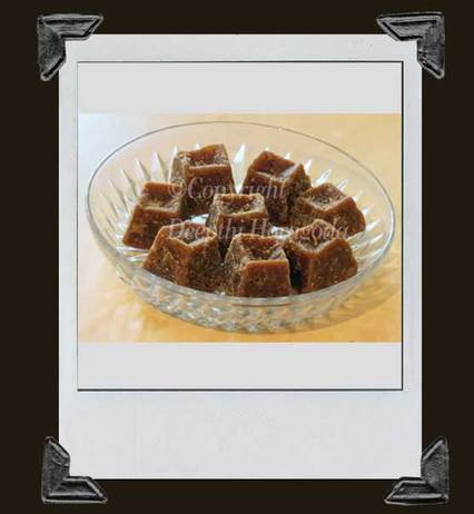 photograph of sugar cane jaggery cubes made in sri lanka