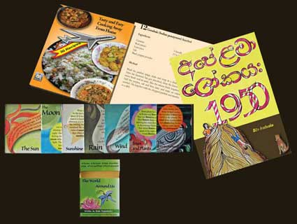 Some of the books written by Beeta Rajapaksha