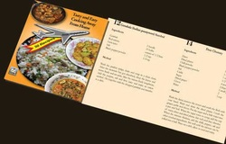 'tasty and easy cooking away from home' foldable sri lankan recipes